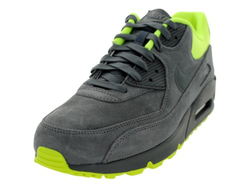 online store cc8d0 33a5c Nike Air Max 90 Premium Mens Running Shoes 333888 022 Dark Grey 12 M US