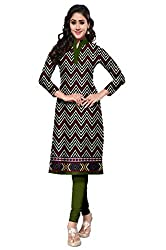 Riddhi Dresses Women's Cotton Unstiched kurti (Riddhi Dresses 29_Multi Coloured_Free Size)