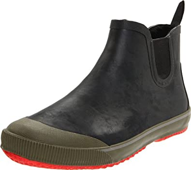 Tretorn Men's Strala Vinter Klar Rain Boot, Black/Tomato, 47 EU/13 D US