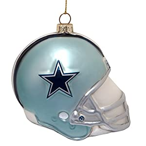 Dallas Cowboys Team Glass Helmet Ornament