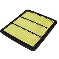 Banggood Car Air-intake System Panel Air Filter Black Yellow 16546-JN30A-C139
