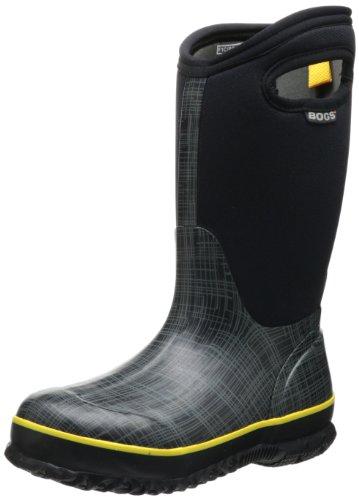 Bogs Classic High Linen Waterproof Boot (Toddler/Little Kid/Big Kid),Black,1 M US Little Kid