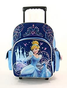 "12"" Disney Cinderella Glass Castle Rolling Backpack-tote-bag-school by Disney"
