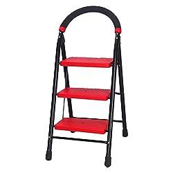 Cipla Plast Folding Ladder - Super Milano 3 steps + Free 14 Pcs Multipurpose Buffers - GEC-L3SM