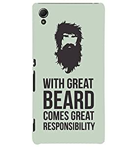 ColourCrust Sony Xperia Z4 Mobile Phone Back Cover With Beard Quote Quirky - Durable Matte Finish Hard Plastic Slim Case