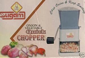 Jaatara Onion Chopper + Vegetable Chopper, White, 12 cm available at Amazon for Rs.99