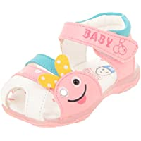 Junior Baby Girls Synthetic Casual Athletic & Outdoor Sandals (JS018, Blue & Pink, 16)