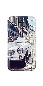 Casenation Vintage White Car Samsung Galaxy J5 Glossy Case