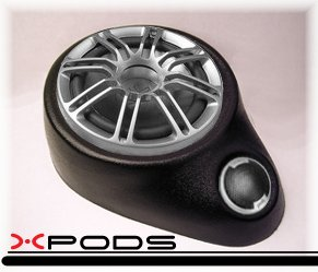 6 1/2 Component Speakers Custom Car Enclosure Pod Mount