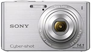 Sony Cyber-shot DSCW610 14.1 MP Digital Camera with 4x Optical Zoom and 2.7-Inch LCD (Silver) (2012 Model)