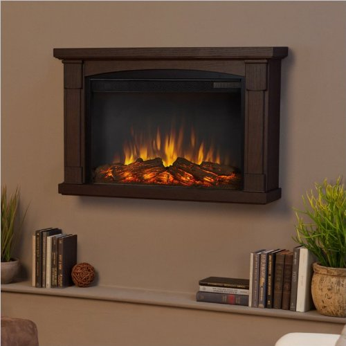 Real Flame Brighton Slim Line Wall Hung Electric Fireplace - Chestnut Oak picture B00G7JCUW4.jpg