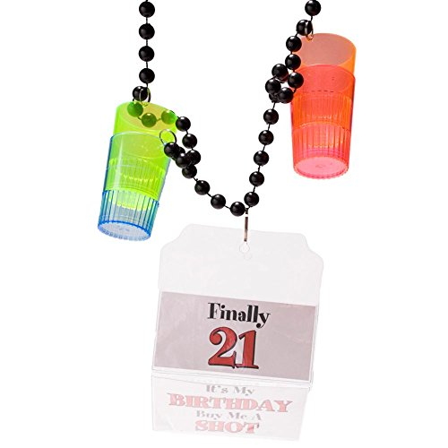 21st Birthday Shot Glass Party Beads - 1