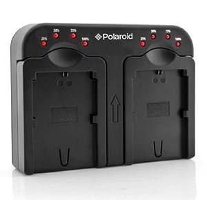 Polaroid double chargeur de batterie « charge 2 batteries en même temps » pour les batteries Nikon EN-EL14 (P7000, P7100, P7700, P7800, D3100, D3200, D5100, D5200), EN-EL15 (D600, D7000, D7100, D800), EN-EL20 (A, Nikon 1 J1, J2. J3, S1)