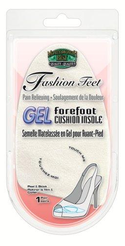 Moneysworth and Best Gel Forefoot Cushion Insole Fashion Feet Shoe Insert Beige
