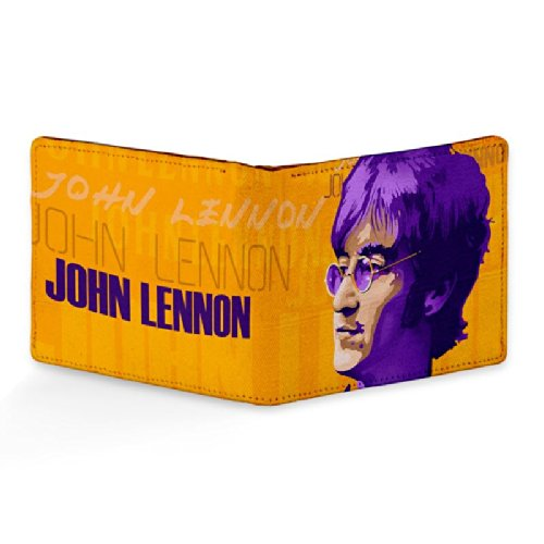 Bluegape John Lennon Beatles Face Leather Wallet for Men