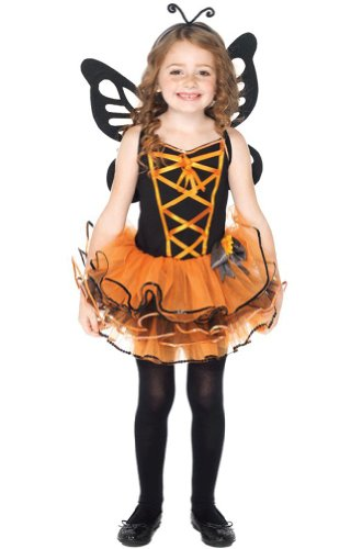 Leg Avenue Girls 3pc Black/orange Costume Party Dress Size S image