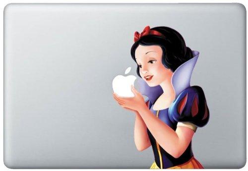 白雪姫 Snow White Macbook ステッカー Snow White シール スキンシール M19