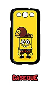 Caseque Angry SpongeBob Back Shell Case Cover For Samsung Galaxy S3