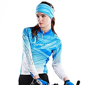 NEW-NYXEYE-100% Polyester Ladies Long-Sleeve Cycling Jersey with Back-Side Brushed... by ELCE Stock