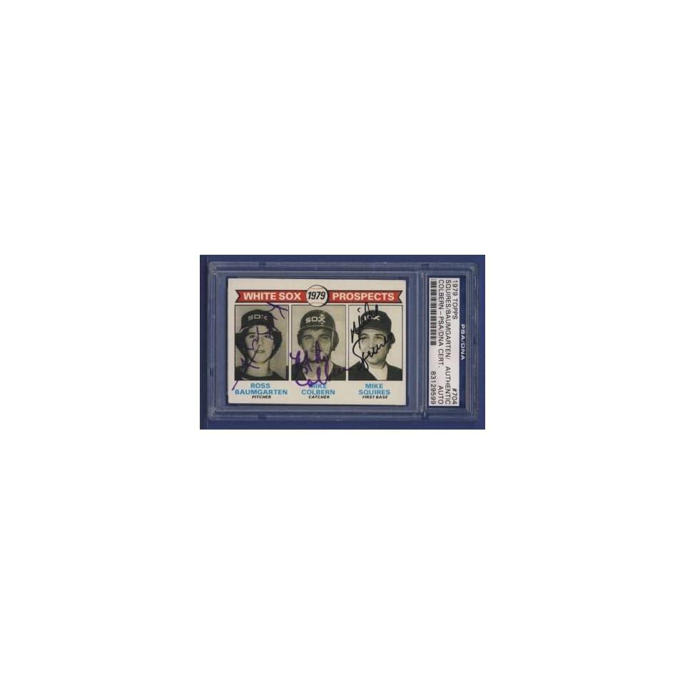 1979 Topps SQUIRES/BAUMGARTEN #704 Signed Card PSA/DNA   Sports Memorabilia