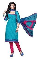 HIFI Ethnicwear Women's Dress Material(HIFI 3302_Turquoise_Free Size)
