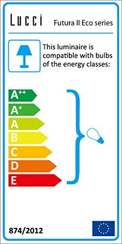 LUCCI AIR 210824 - Ventilatore da soffitto Altitude Eco, per interni ed esterni, telecomando incluso, colore: bianco