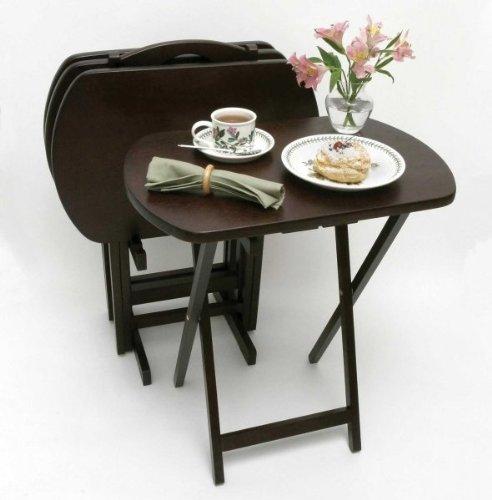 Amazing Espresso 4 Piece Oversized Snack Table Set