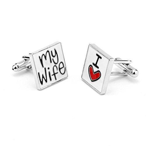 """RevoLity """"I LOVE"""" Series Heart Cufflinks Cuff Buttons ..."""