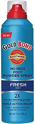 Gold Bond No Mess Foot Powder Spray, Fresh 7 oz
