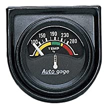 "Auto Meter 2355 Auto Gage 1-1/2"" Short Sweep Electric Water Temperature Gauge"