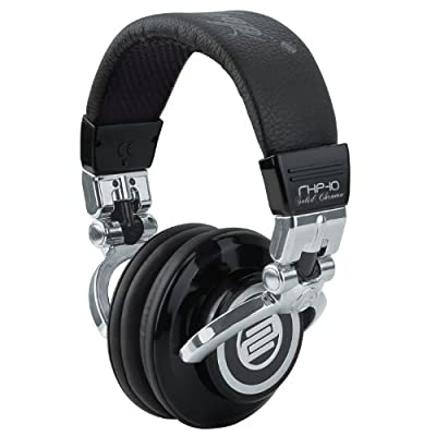 Reloop RHP-10 Solid Chrome DJ Headphones Black / Silver by Mixware LLC