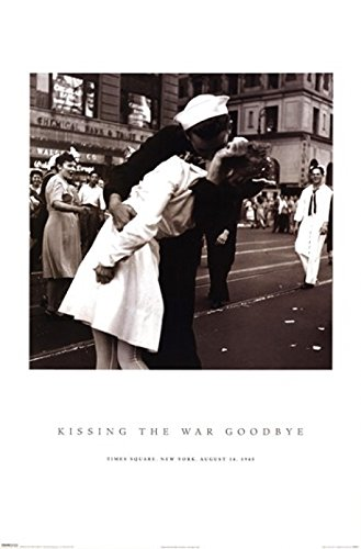 Kissing War Goodbye Vj Day Times Square 7/14/1945 Print Lt Victor Jorgensen24X36