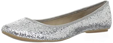 Kenneth Cole REACTION Women's Slip Gloss Ballet Flat,Silver,6 M US