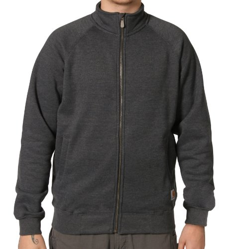 Carhartt K350 Zip Sweatshirt Charcoal Grey Mens Hoodie Top