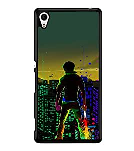 printtech Hero Kid Save City Back Case Cover for Sony Xperia Z4 , Sony Xperia Z4 E6553