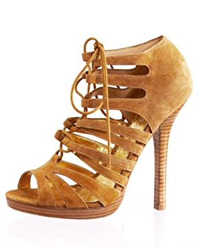 bebe.com : Jenae Nubuck Lace-up Sandal from bebe.com