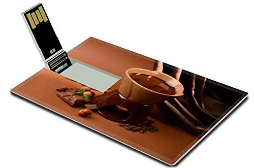 MSD 32GB USB Flash Drive 2.0 Memory Stick Credit Card Size Image ID 23886979 Chocolate fondue on brown background (Fondue Dual compare prices)