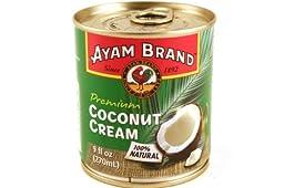 Ayam Brand Premium Coconut Cream (100% Natural) - 9fl oz (Pack of 3)