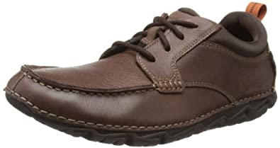 Rockport Mens Roc Sports Lite II Moc Front Derby V76036 Dark Brown Tumbled 9 UK, 43 EU, 9.5 US