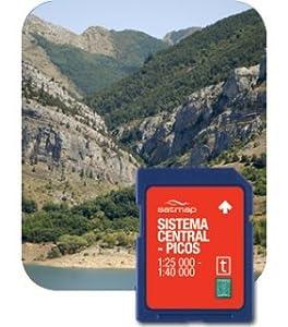Satmap GPS System Karte iberisches Scheidegebirge und Nationalpark Picos de Europa, schwarz, ES-ALP-25-PREM-SD-005