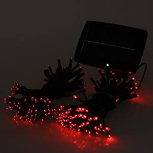 Amazon.com: 200LED Solar Christmas String Light Wedding Party Garden Lights (Red): Home & Kitchen