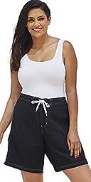 swimsuitsforall Women\'s Plus Size Long Board Short 18 Black