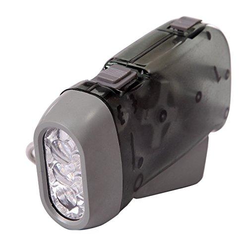 Hde No Battery Green Energy 3 Led Hand-Powered Emergency Travel Flashlight (Gray)