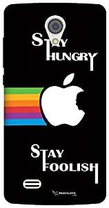The Racoon Grip Stay Hungry Stay Foolish hard plastic printed back case/cover for Vivo Y21