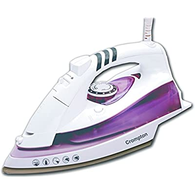 Crompton ACGSI-PYRO 1600-Watt Steam Iron (White and Purple )