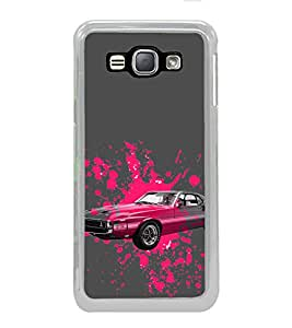 ifasho Vintage Car Back Case Cover for Samsung Galaxy J1 (2016 Edition)