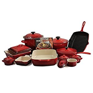 Le Creuset Cherry Mixed 20 Piece Cookware Set