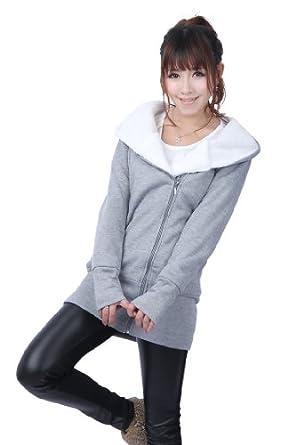 Buy Ladies Pullover Jumper Hoodie Hooded Coat Warm Sweatshirt Outerwear Jacket by FACE N FACE