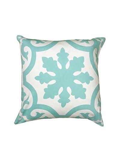 Rizzy Home Light Blue Santa Fe Throw Pillow