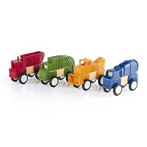 Guidecraft Block Mates - Construction Vehicles G7605 - 1